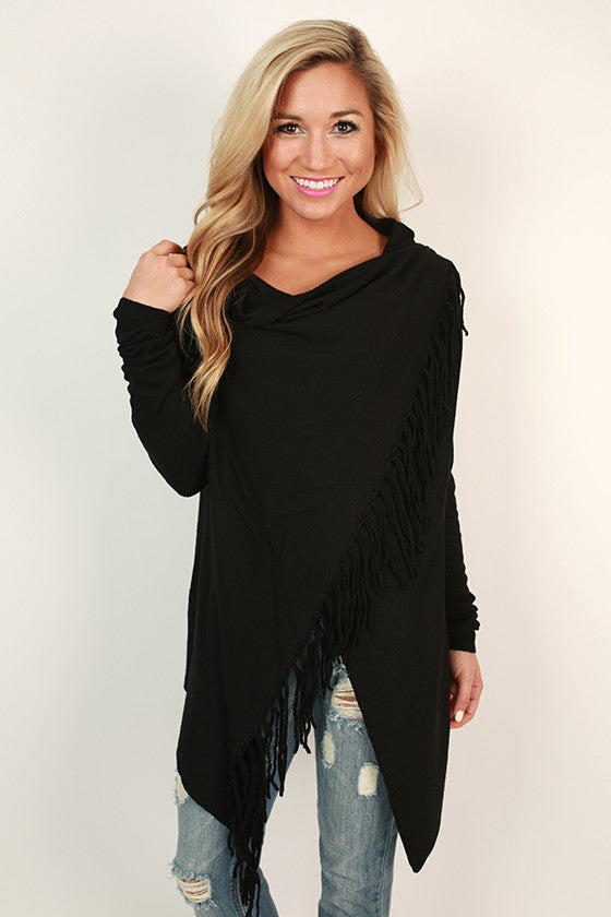 Afternoon in The Alps Cardigan in Black