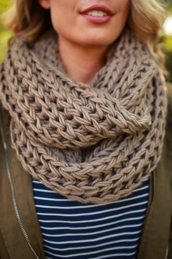 Cappuccino Cuddles Infinity Scarf in Mocha