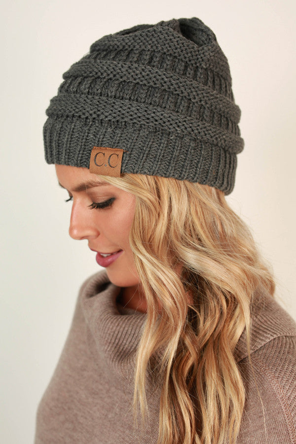 Beanie Beautiful In Dark Grey