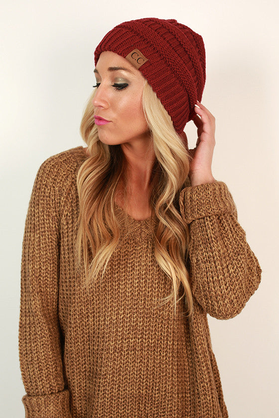 Beanie Beautiful in Ruby Wine