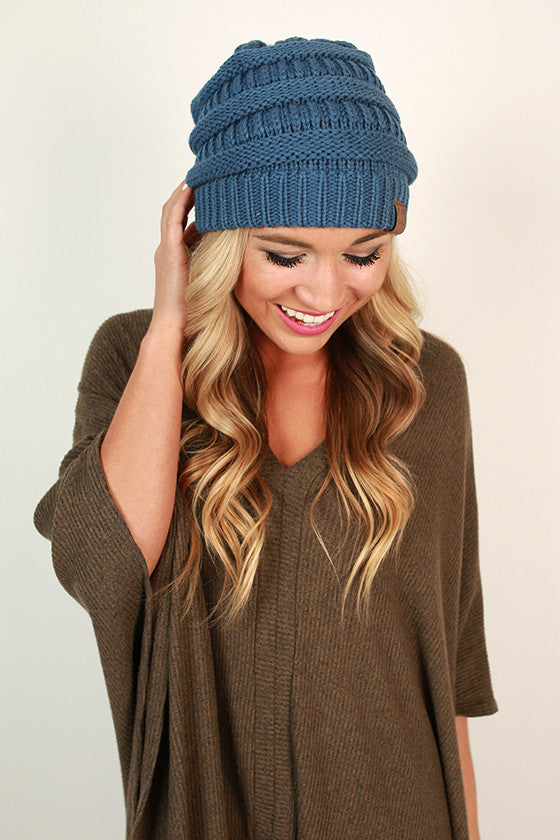Beanie Beautiful in Cobalt Blue