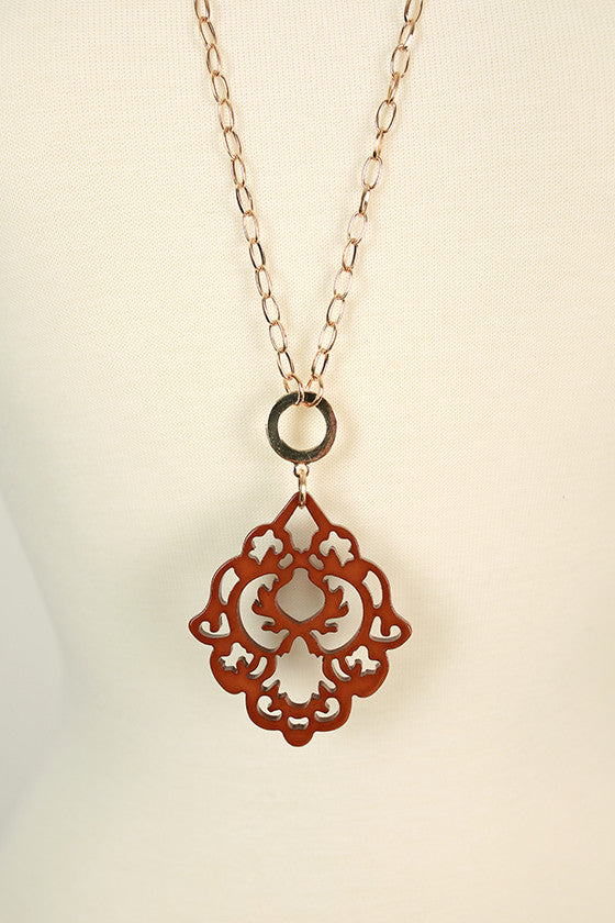 Cool Capri Necklace in Brown