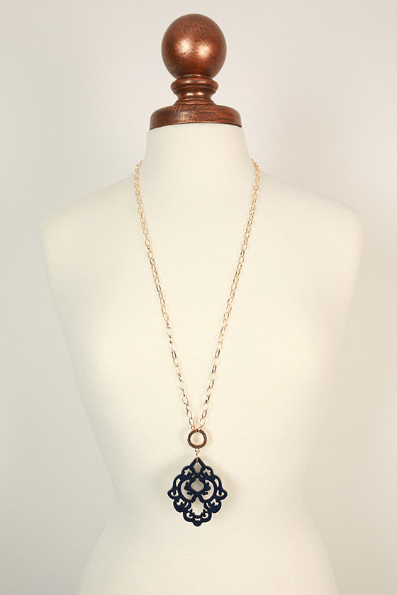 Cool Capri Necklace in Navy
