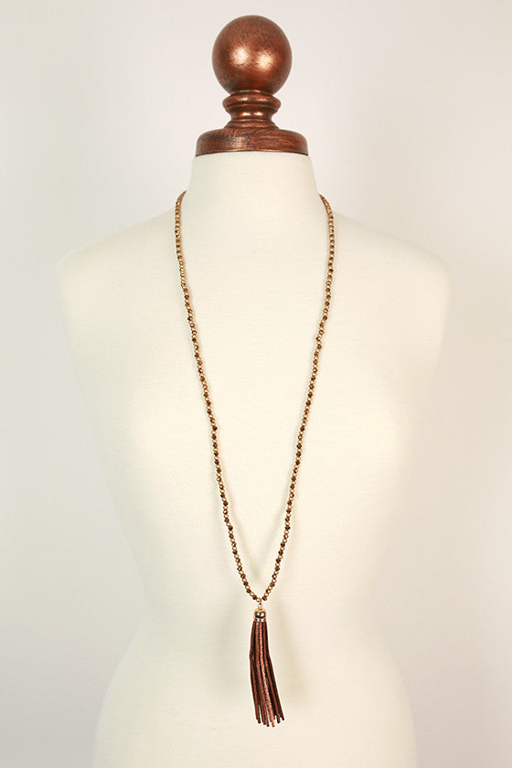 Timeless in The City Tassel Necklace in Copper