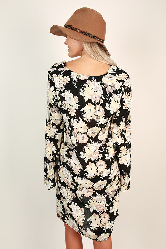 Swanky Style Floral Shift Dress