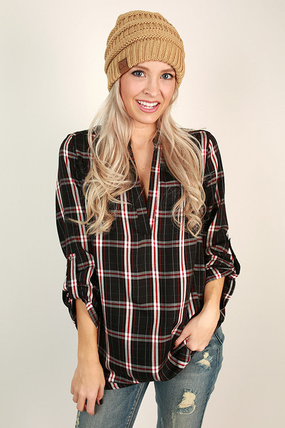 Southern Feelings Plaid Top