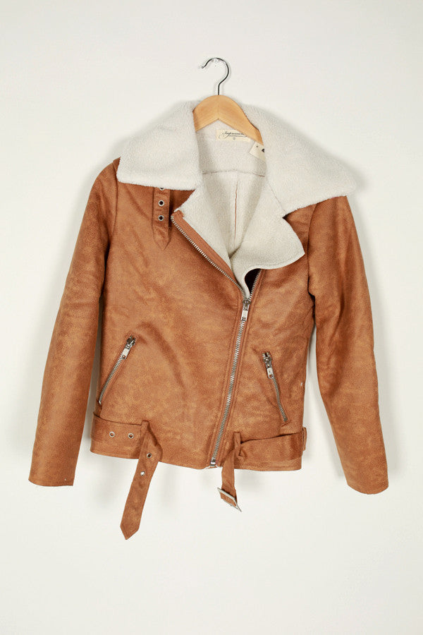 Aspen For The Weekend Jacket in Camel