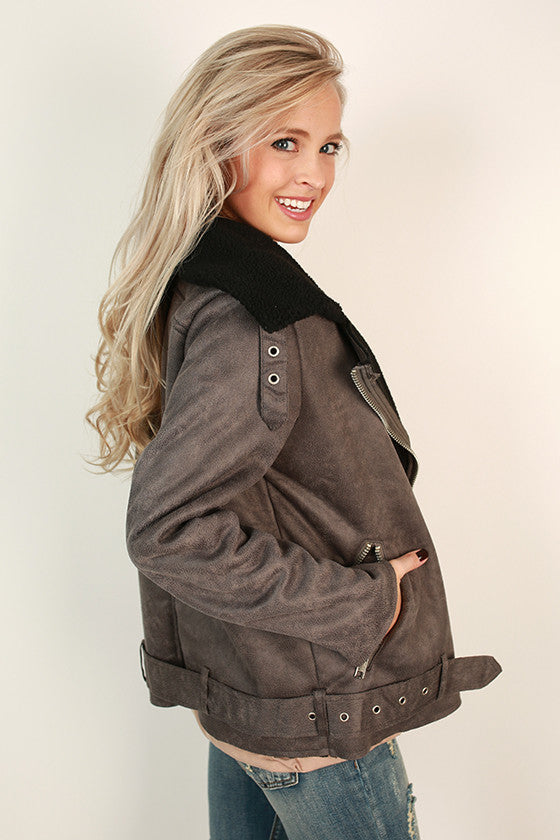 Aspen For The Weekend Jacket in Charcoal