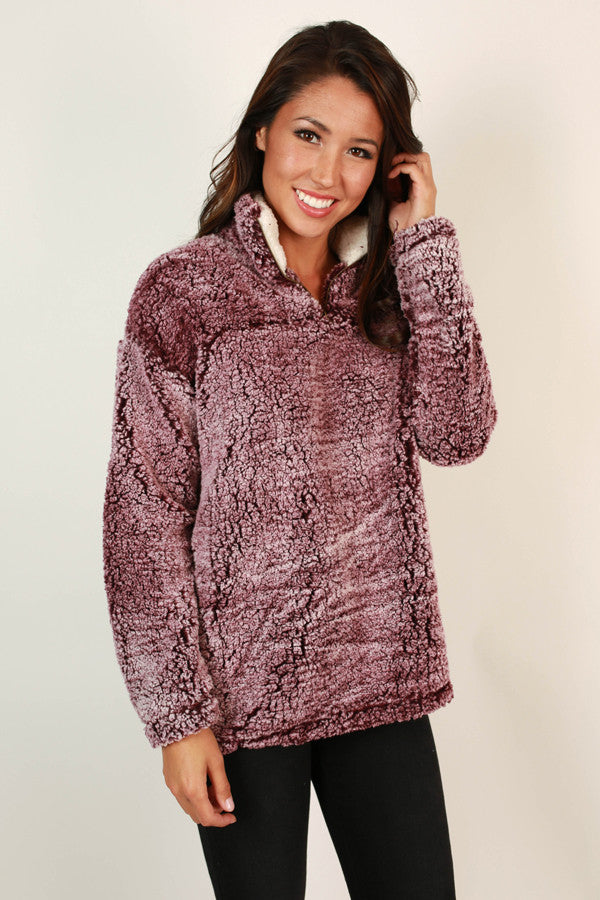 Ski Lodge Cuddles Sweater in Royal Lilac