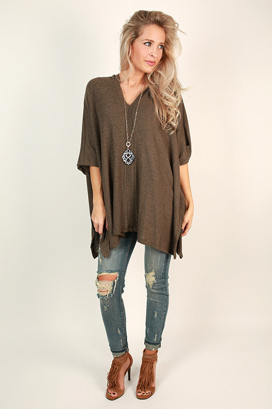 Cozy on Repeat Tunic in Mocha