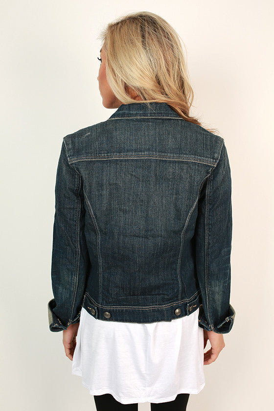 Taylor Denim Jacket in Indigo Blue
