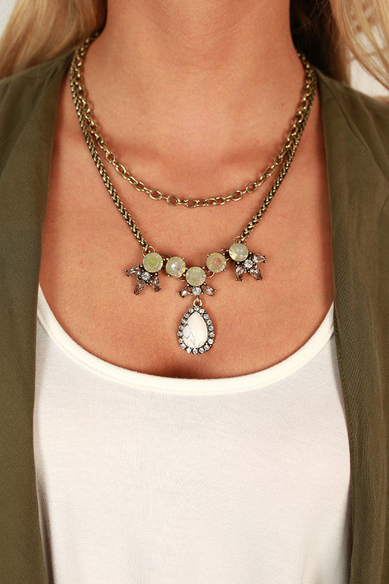 Popping Bubbly Necklace in White