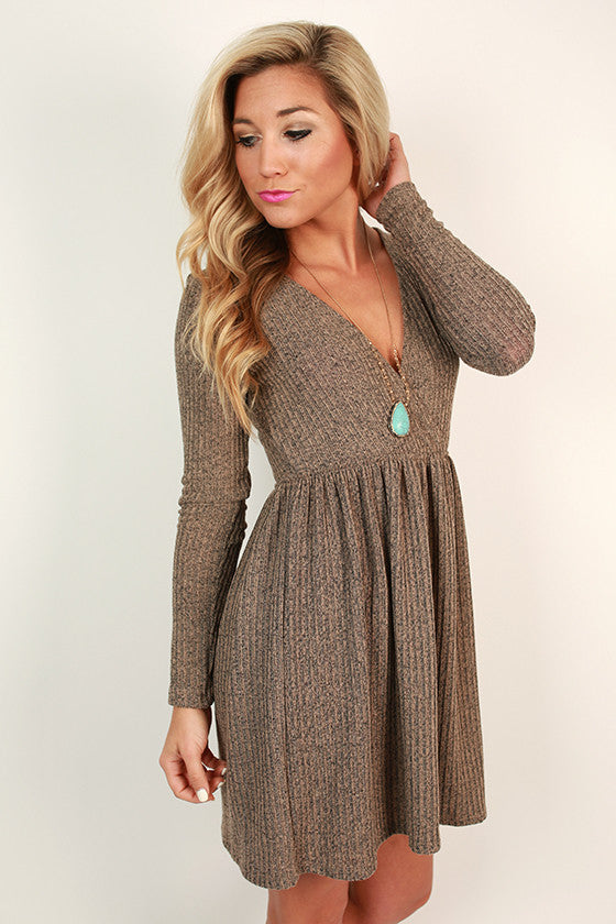 London Luxe Rib Shift Dress