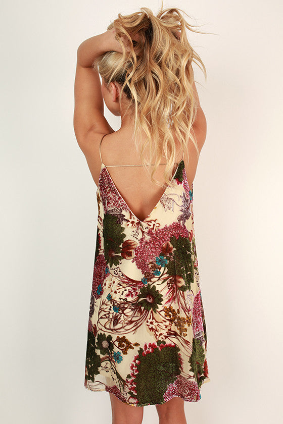 Whisk Me Away Velvet Burn Out Dress