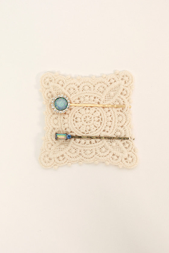 Blue Skies Hair Pin Set
