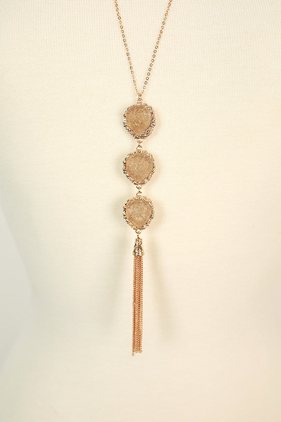 Feeling Blessed Quartz Necklace in Stone