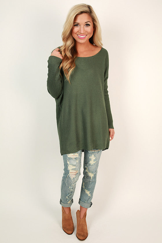 Weekend At The Cabin Tunic in Emerald