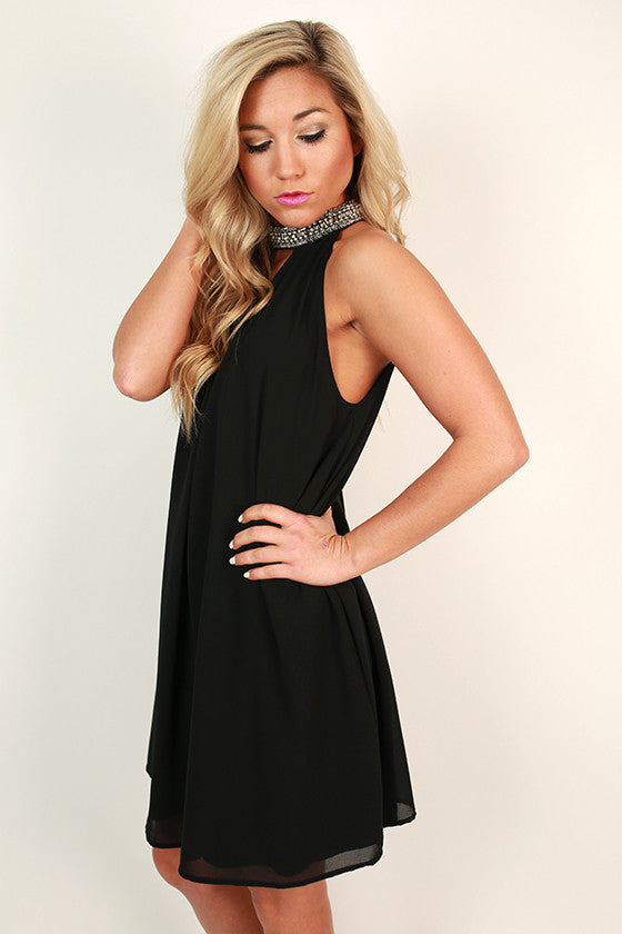 Sparkle For Days Shift Dress in Black