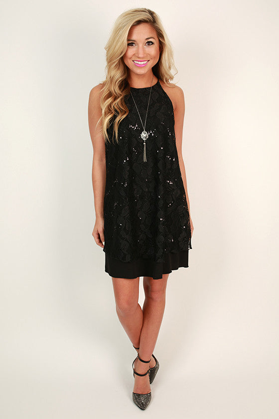 Lace & Cabernet Shift Dress