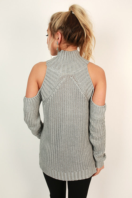 The Coziest Cuddles Sweater in Grey