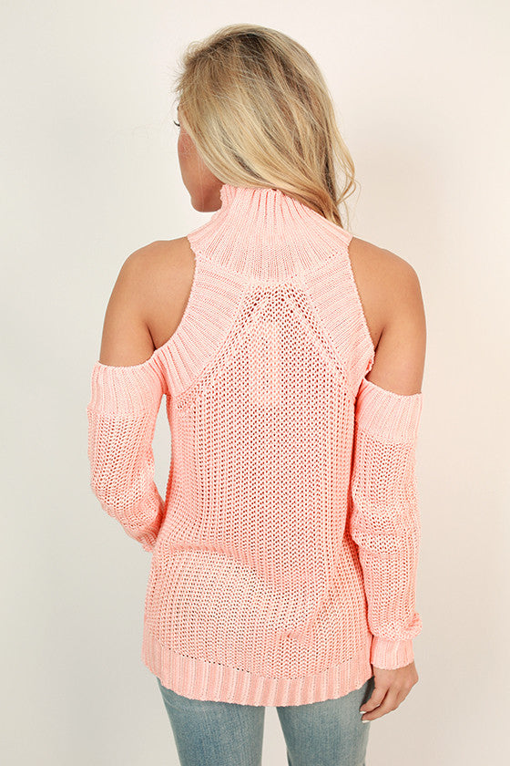The Coziest Cuddles Sweater in Peach