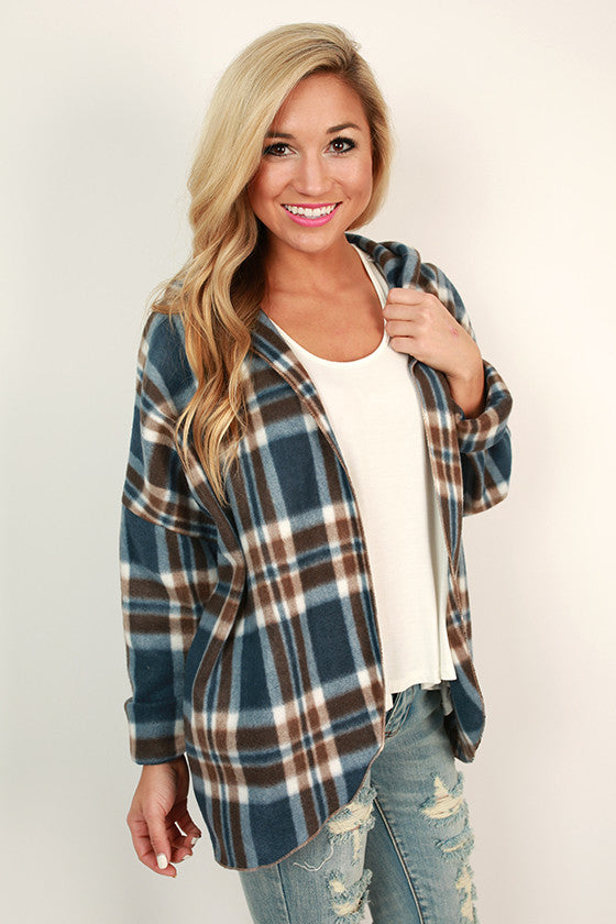 Peppermint Schnapps Plaid Cardigan