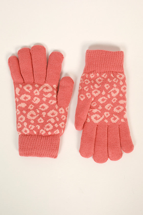 Cheetah Cutie Gloves in Calypso