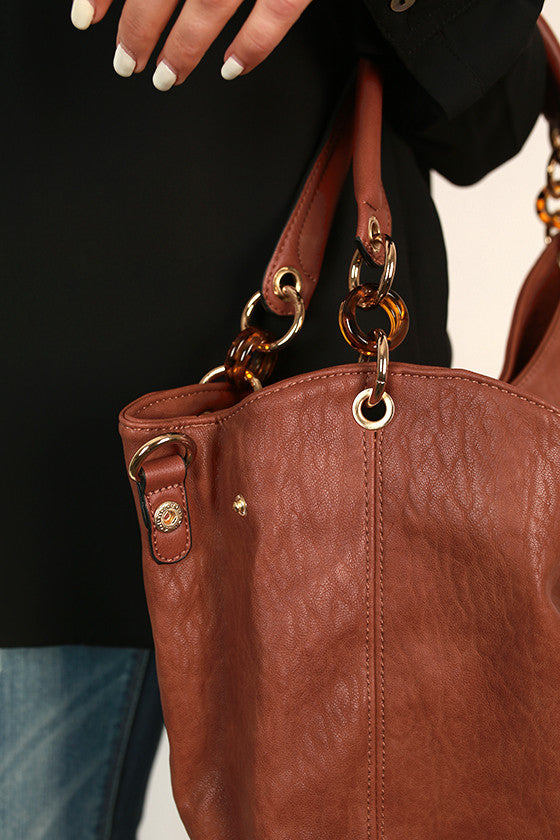 Downtown Divine Tote Bag in Maple