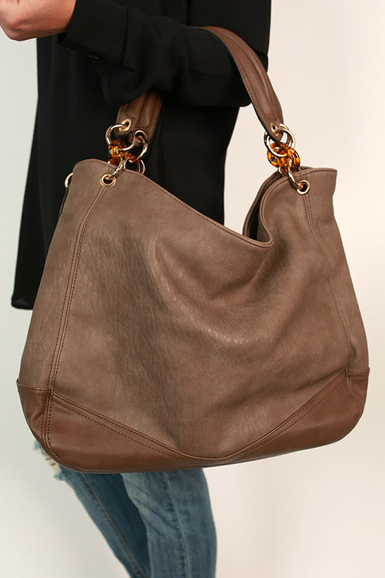 Downtown Divine Tote Bag in Mocha