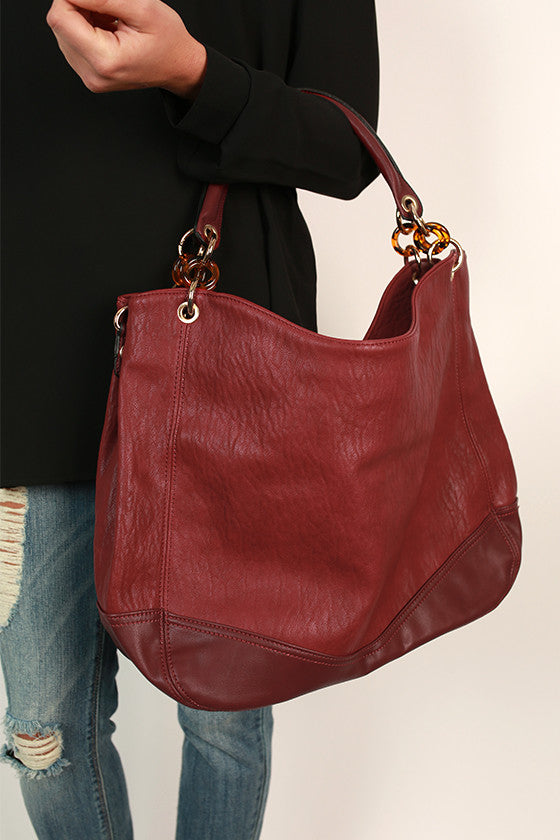 Downtown Divine Tote Bag in Sangria