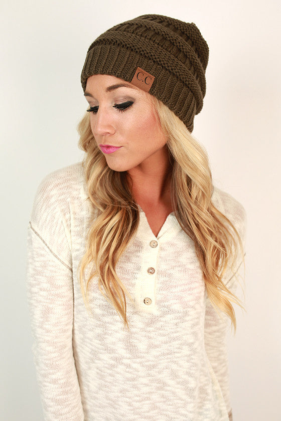 Beanie Beautiful in Army Green