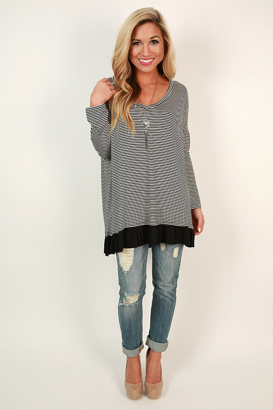 True Story Stripe Tunic