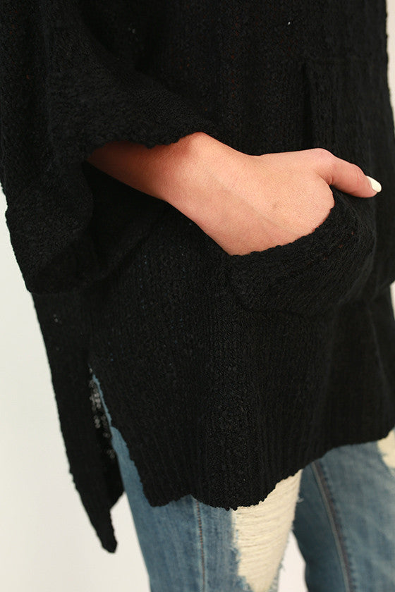 Pockets Full of Pretty Sweater in Black