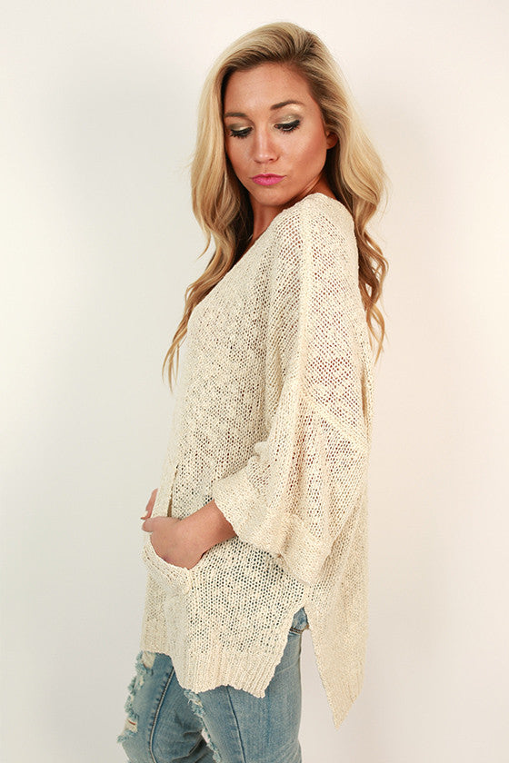 Pockets Full of Pretty Sweater in Ivory