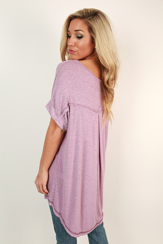 Saturday Morning Tee in Violet