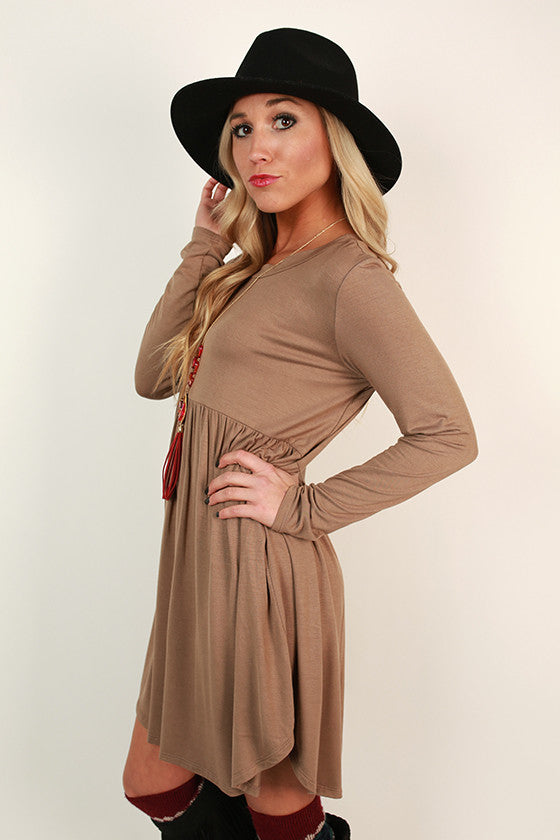 Not Your Babydoll Tunic in Taupe