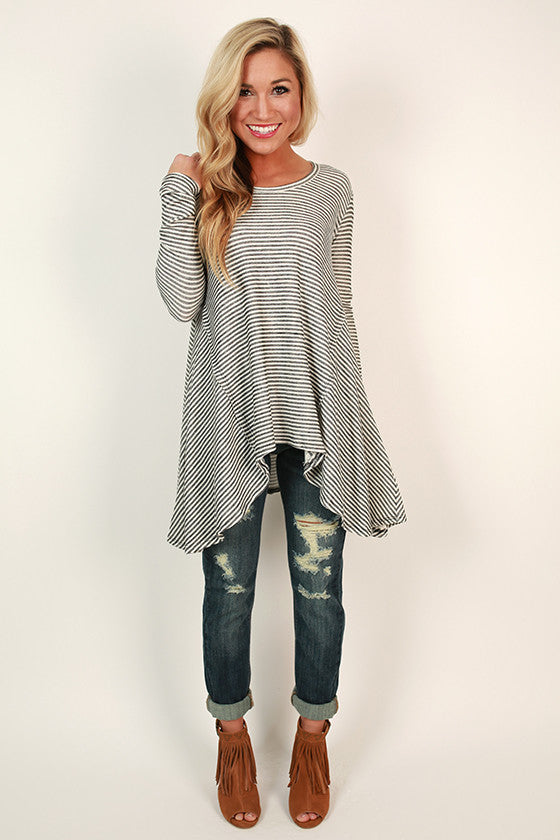 Happy Stripes Swing Tunic