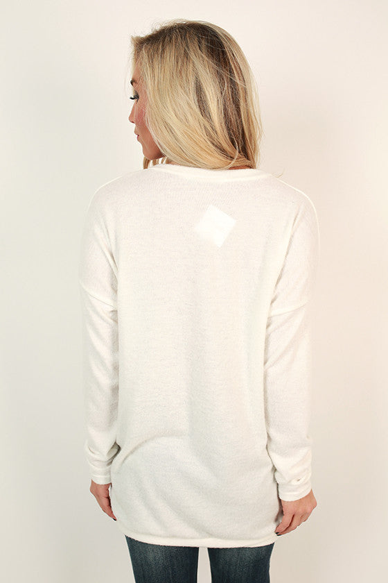 Pocket To Me Pretty Tunic in White
