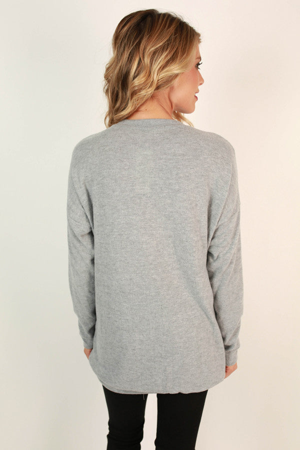 Pocket To Me Pretty Tunic in Light Grey