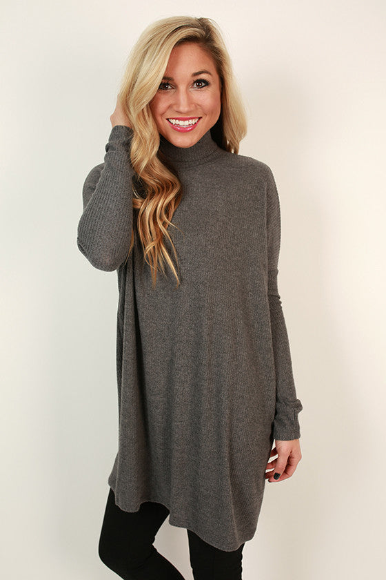 Dinner & Amore Tunic in Dark Grey