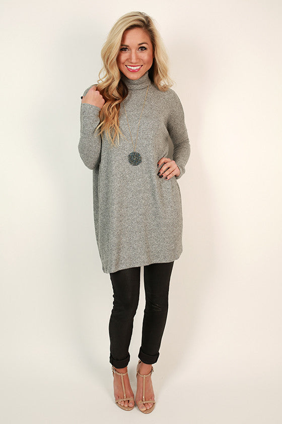 Dinner & Amore Tunic in Grey