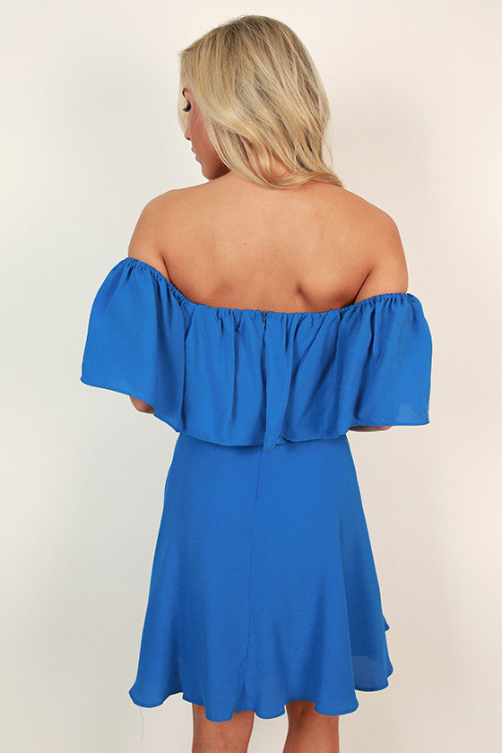 Mykonos Sunsets Off Shoulder Dress