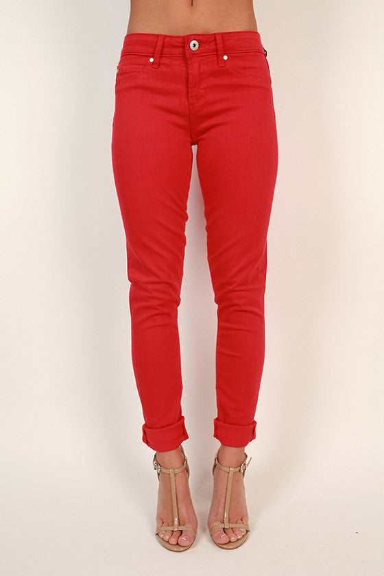 Mya Skinny in Red