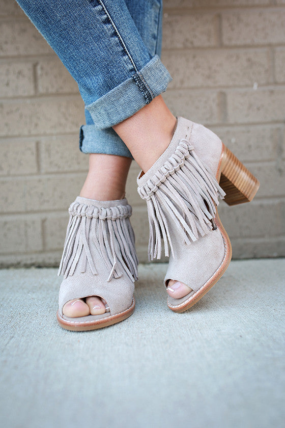 Hickory Fringe Bootie