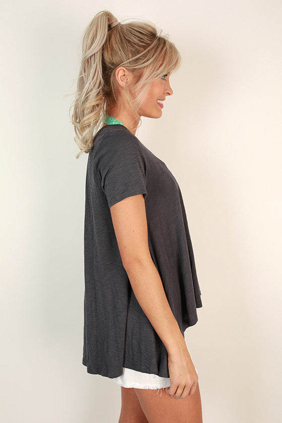 Park Shift Tee in Charcoal