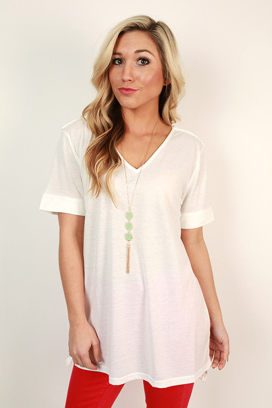 Weekend Comforts Top in White