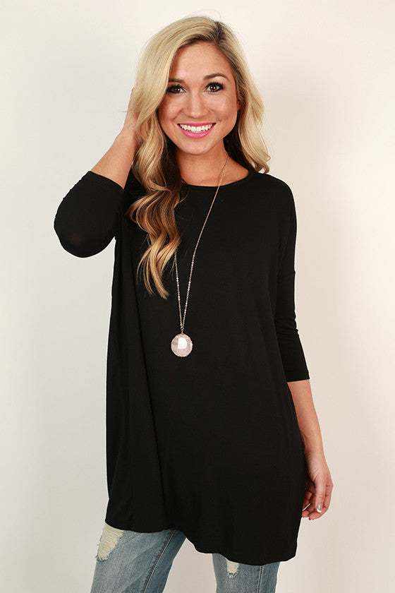 Meet Me in The City Tunic in Black