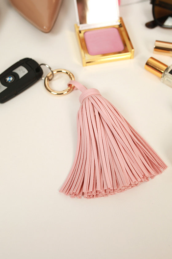 Tour De Italy Tassel in Rose Quartz
