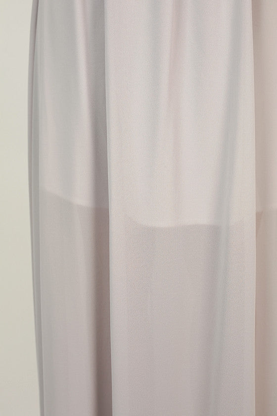 Made For You Maxi Dress in Lilac Gray
