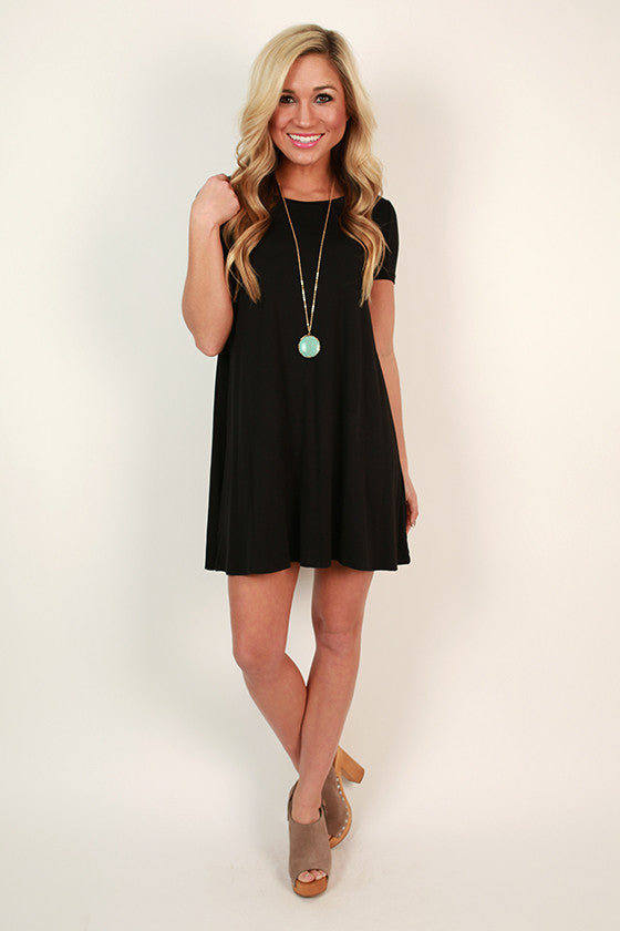 Shift So Sweet T-Shirt Dress in Black
